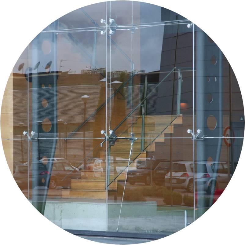 Tensor Horquilla - Terminal para fachada Telefónica I+D - Aciarium